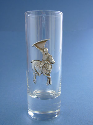 Polo Shooter Glass - Lead Free Pewter