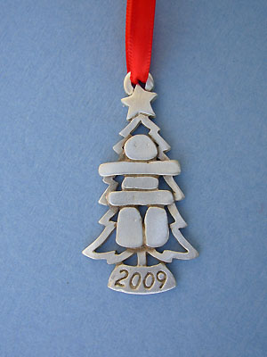 2009 Inukshuk Annual Ornament - Lead Free Pewter