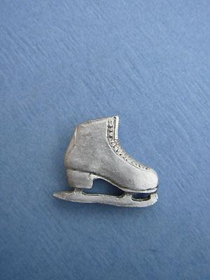 Single Skate Lapel Pin - Lead Free Pewter