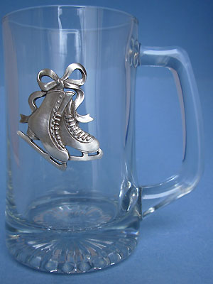 Figure Skating Beer Mug - Lead Free Pewter