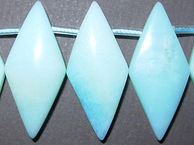 "16x35mm Diamond Amazonite - 16"" Strand"