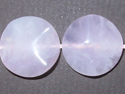 "20mm Wave Rose Quartz - 16"" Strand"