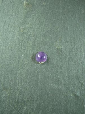6mm Amethyst Round Cabochon