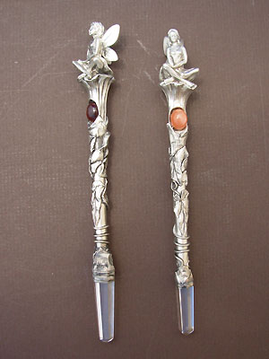 Fairy Crystal Wand - Lead Free Pewter