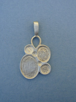 6 Stone Multi Pewter Setting - Lead Free Pewter