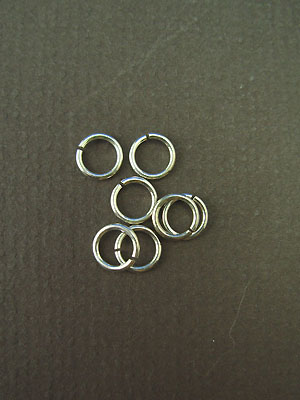 6.5mm (ID) 20ga - Argentium Sterling Silver Jump Rings