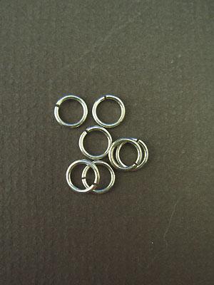 6.5mm (ID) 18ga - Argentium Sterling Silver Jump Rings