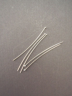"2 1/2"" - 20ga- Argentium Sterling Silver Headpins"