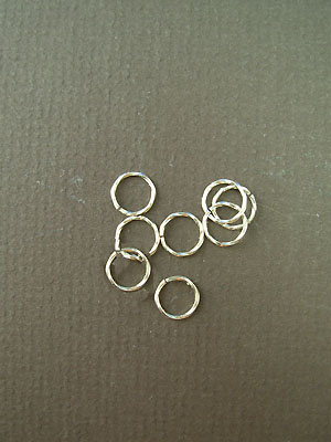 5mm 22ga twisted argentium sterling silver jump rings
