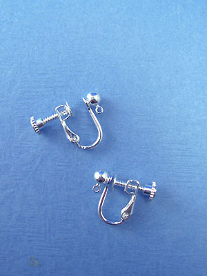 Earclip Ball/Ring Silver Plated