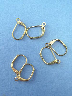 Plain Lever Back Earrings Gold Plated