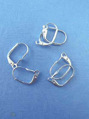 Le Fleur Lever Back Earring Wires - Silver Plated