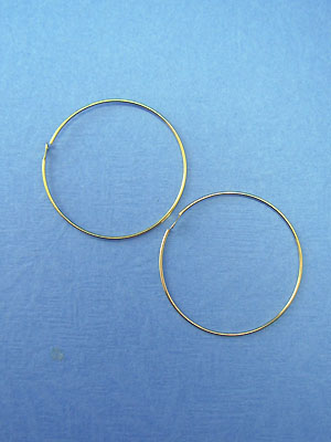 30mm Bead Hoops Gold Plated - 10pcs