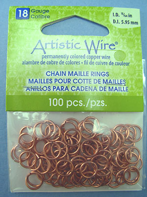 "18ga ID 15/64"" / 5.95mm - Artistic Wire Jump Rings"