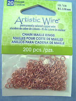 "20ga ID 1/8"" / 3.18mm - Artistic Wire Jump Rings"