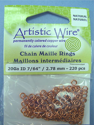 "20ga ID 7/64"" /2.78mm - Artistic Wire Jump Rings"