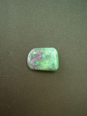 Ruby and Zoisite Tumbled Stone