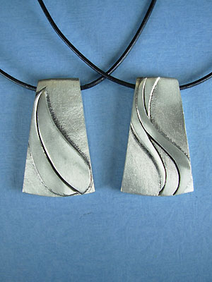 Wind and Earth Pendant - Lead Free Pewter