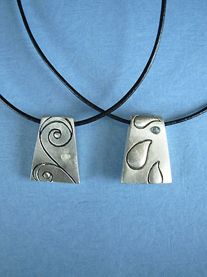 Wind and Water Pendant - Lead Free Pewter