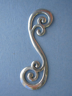 Large Scroll Foldover - Lead Free Pewter