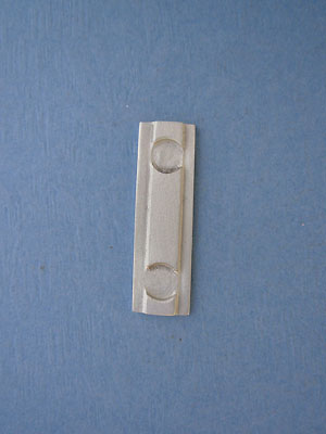 Solid Bar With Beads Foldover - Lead Free Pewter