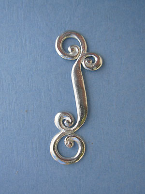 Small Scroll Foldover - Lead Free Pewter