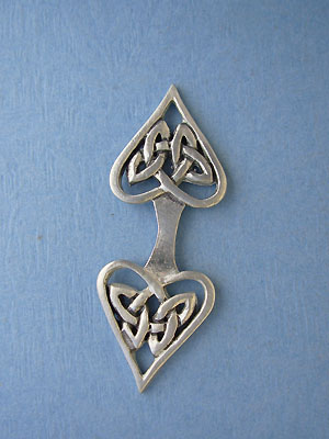Celtic Heart Foldover - Lead Free Pewter