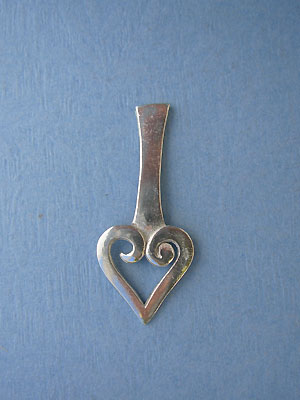 Open Heart Foldover - Lead Free Pewter