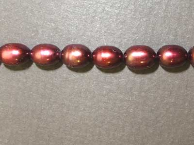 "Dyed Dark Red Freshwater Pearls - 16"" Strand"