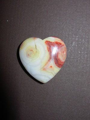 Crazy Lace Agate Gemstone Heart