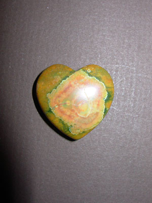 Rhyolite Gemstone Heart