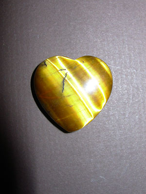 Tiger Eye Gemstone Hearts