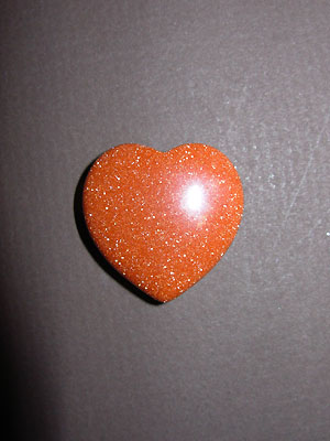 Gold Stone Gemstone Heart