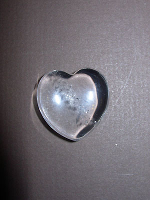 Clear Quartz Gemstone Hearts