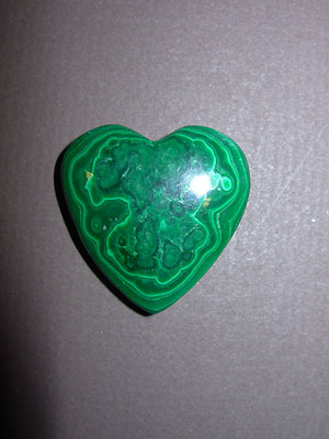 Lg. Malachite Gemstone Heart