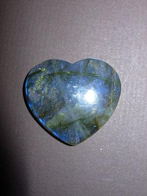 Labradorite Gemstone Heart