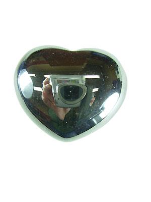 Hematite Gemstone Puff Heart