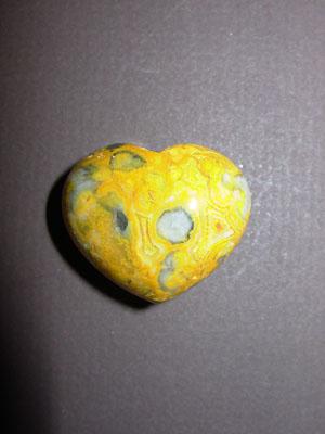 Crazy Lace Agate Gemstone Puff Heart