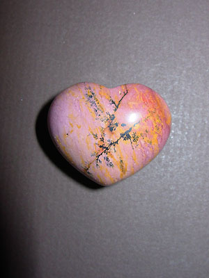 Fancy Jasper Gemstone Puff Heart