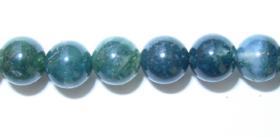 "6mm Round Moss Agate - 16"" Strand"