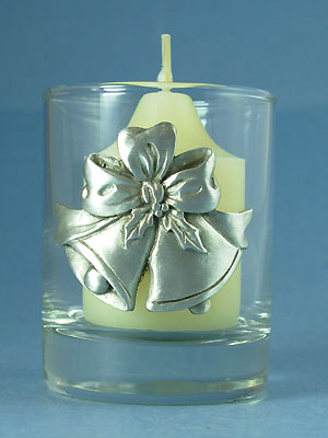 Bells & Bow Votive - Lead Free Pewter