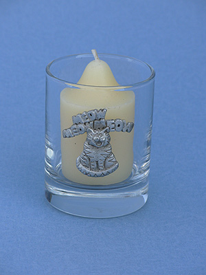 Meow Cat Votive Holder -Lead Free Pewter