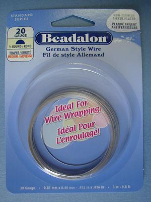 20ga 1/2 Round - Non Tarnish Silver Plated - German Style Wire