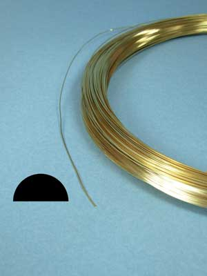 20 Gauge 14k Gold Filled Wire (1/2 round, 1/2 hard)