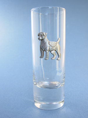 Standing Jack Russell Shooter - Lead Free Pewter
