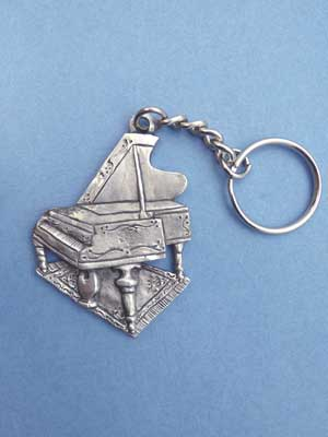 Piano Keychain - Lead Free Pewter