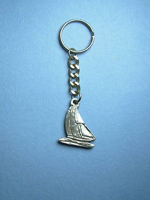 Sailboat Keychain - Lead Free Pewter