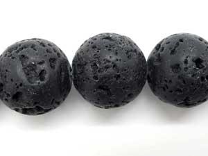 14mm Round Lava Beads
