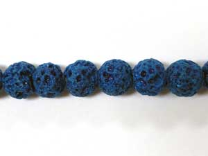 6mm Round Lava Beads - Turquoise (Dyed)