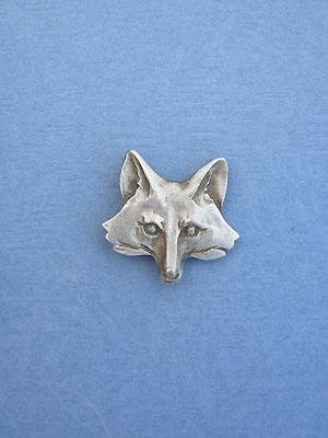 Fox Head Lapel Pin - Lead Free Pewter